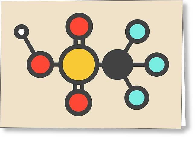Triflic Acid Molecule Greeting Card by Molekuul