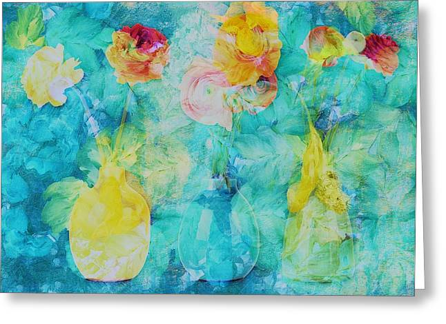 Floral Still Life Greeting Cards - Triflorus - s02bc3 Greeting Card by Variance Collections