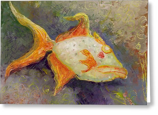 Triggerfish Greeting Card by Anna Skaradzinska