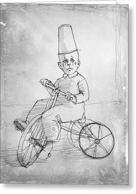 Tricycle Greeting Cards - Trike Greeting Card by H James Hoff