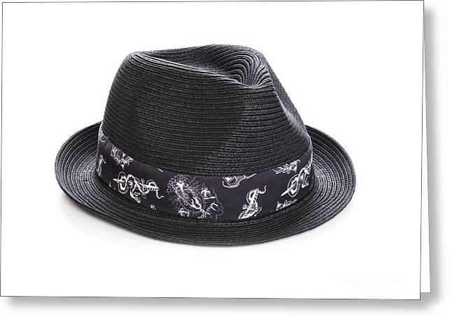Trilby Hat Greeting Card by Colin and Linda McKie
