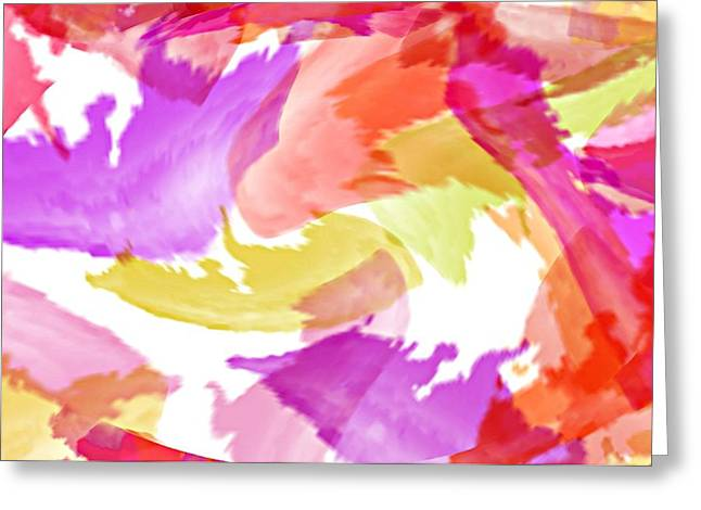 Abstract Digital Photographs Greeting Cards - Trilogy Greeting Card by Diana Angstadt