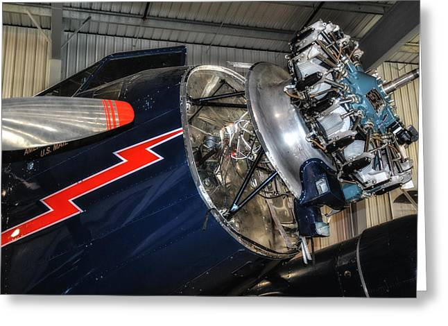 Ford Trimotor Greeting Cards - Trimotor Close Up Greeting Card by Todd and candice Dailey
