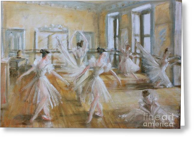 Tring Park The Ballet Room Greeting Card by Yvonne Ayoub