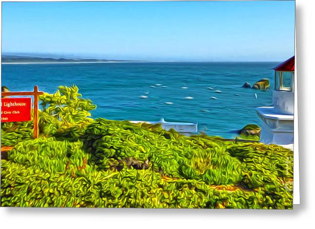 Gregory Dyer Greeting Cards - Trinidad CA - Lighthouse Greeting Card by Gregory Dyer