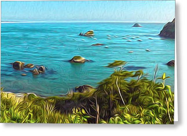 Gregory Dyer Greeting Cards - Trinidad California - Bay Veiw Greeting Card by Gregory Dyer