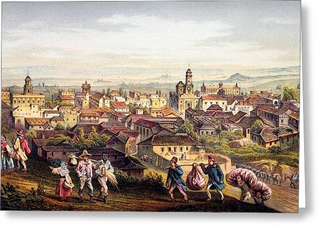 Trinidad, Cuba, 1840 Greeting Card by Federico Mialhe