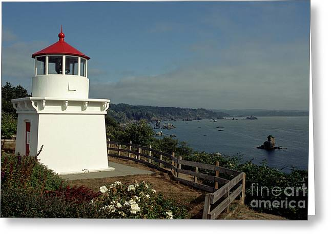 Pacific Ocean Prints Greeting Cards - Trinidad Light Greeting Card by Sharon Elliott