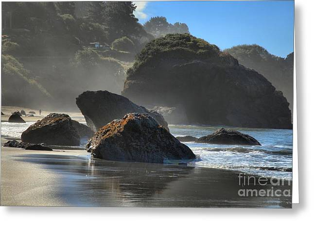 Trinidad Sea Stacks Greeting Card by Adam Jewell