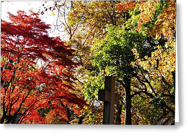 Washington Heights Greeting Cards - Trinity Cemetery 2 Greeting Card by Sarah Loft