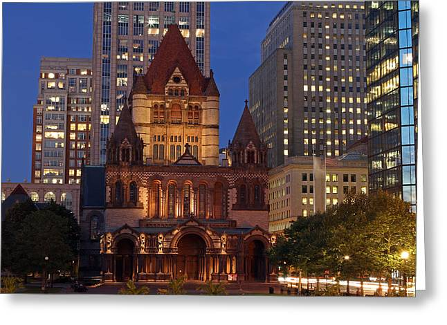 Church Photos Greeting Cards - Trinity Church of Boston Greeting Card by Juergen Roth