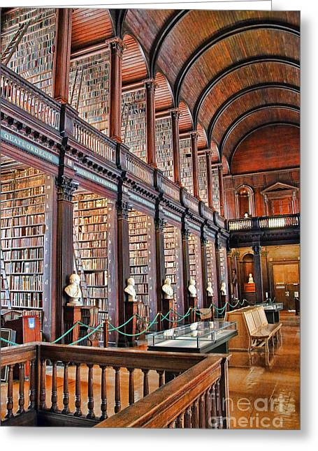 Trinity Greeting Cards - Trinity College Library 7024 Greeting Card by Jack Schultz