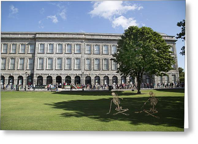 Trinity College Shadows Greeting Card by Betsy Knapp