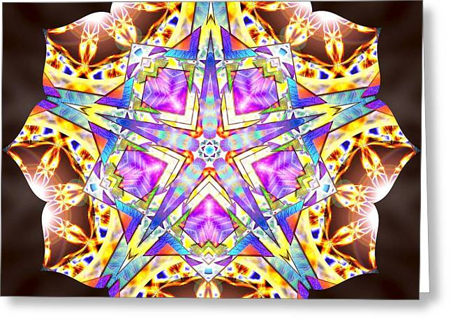 Geometric Image Greeting Cards - Trinity Of Light K3 Greeting Card by Derek Gedney