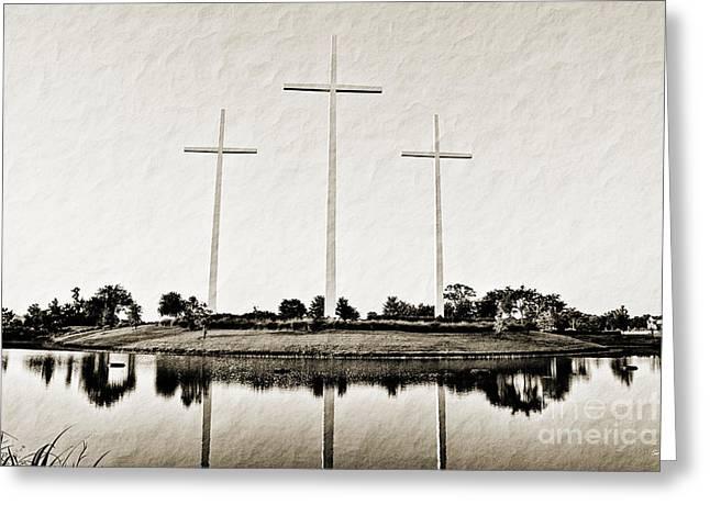 Louisiana Sunrise Greeting Cards - Trinity Greeting Card by Scott Pellegrin