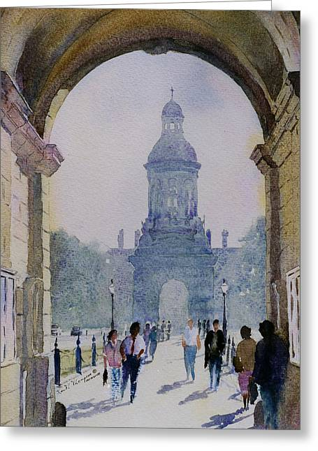 Www Greeting Cards Greeting Cards - Trintity College Dublin County Dublin Ireland Greeting Card by Keith W Thompson