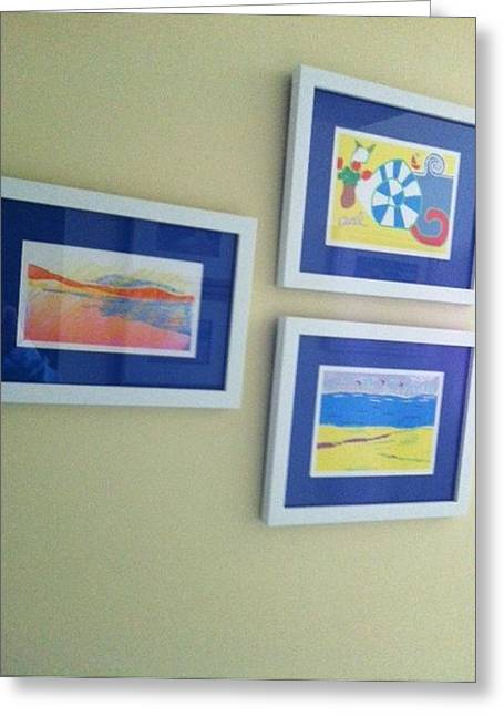 Seacape Drawings Greeting Cards - Trio of My  Work Greeting Card by Anita Dale Livaditis