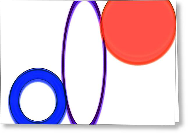 Geometric Image Greeting Cards - Trio Three Greeting Card by Tina M Wenger