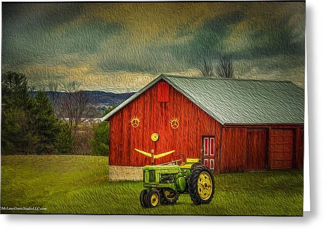 Farmers Field Greeting Cards - Trip to the Happy Farm Greeting Card by LeeAnn McLaneGoetz McLaneGoetzStudioLLCcom