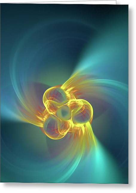 Triple Alpha Nuclear Fusion Greeting Card by David Parker