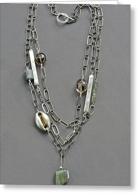 Chain Jewelry Greeting Cards - Triple chain Greeting Card by Mirinda Kossoff