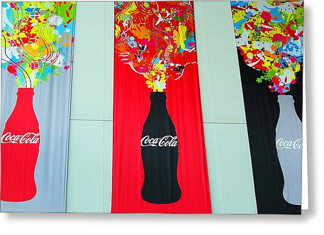 The Real Thing Greeting Cards - Triple Coke Greeting Card by Natalie Ortiz