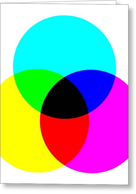 Color Wheel Greeting Cards - Black Center Greeting Card by Daniel Hagerman