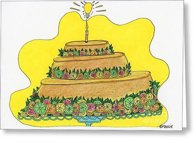 Triple-decker Flan  Greeting Card by Mag Pringle Gire
