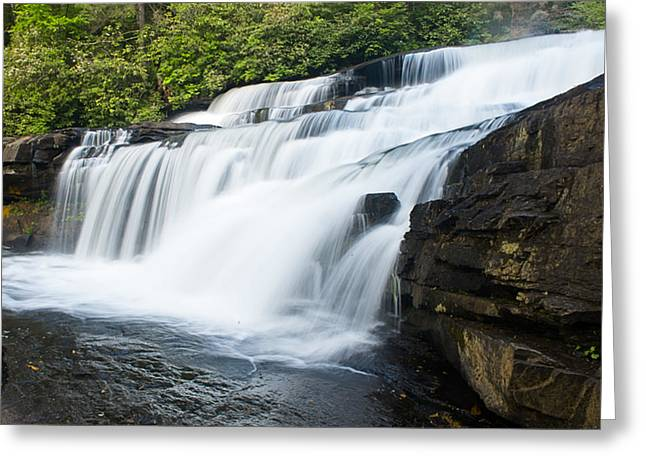 Water Flowing Greeting Cards - Triple Falls Greeting Card by Phyllis Peterson