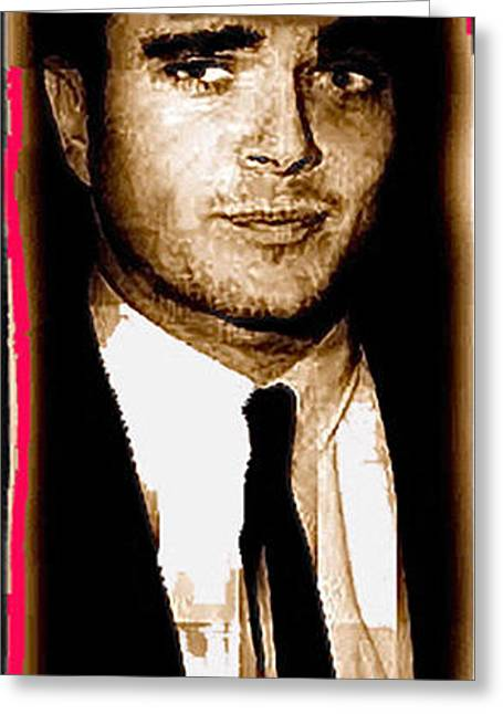 Schmid Greeting Cards - Triple murderer Charles Schmid not in makeup Tucson Arizona collage circa 1966-2013  Greeting Card by David Lee Guss