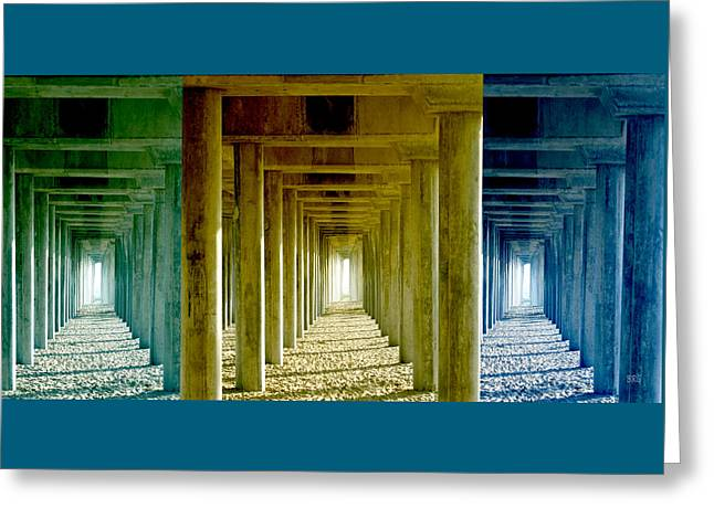 Entryway Greeting Cards - Triple Perspective Greeting Card by Ben and Raisa Gertsberg