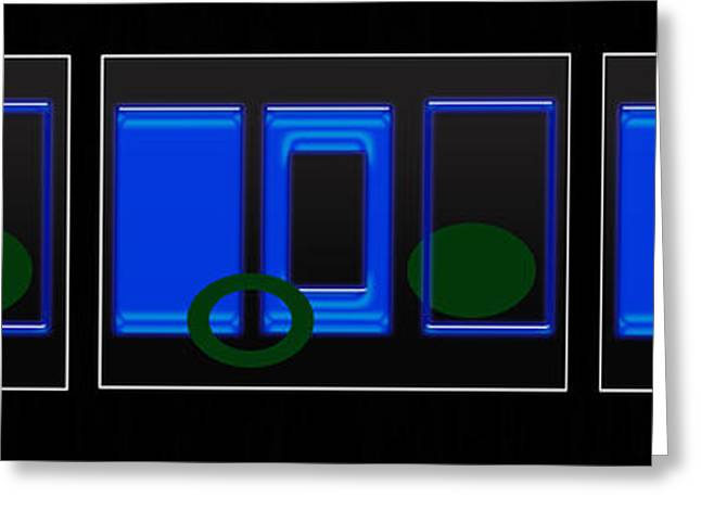 Abstract Digital Photographs Greeting Cards - Triple Play Greeting Card by Tina M Wenger