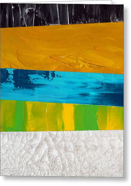 Ultra Modern Paintings Greeting Cards - Triplicity Greeting Card by Holly Anderson