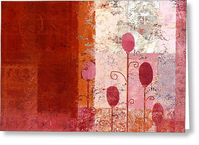 Textured Floral Greeting Cards - Triploflo - 22a Greeting Card by Variance Collections