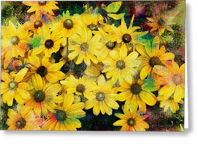 Daiseys Greeting Cards - Trippin in the Garden Greeting Card by Bill Cannon