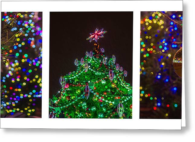 Family Time Greeting Cards - Triptych - Christmas Trees - Featured 3 Greeting Card by Alexander Senin