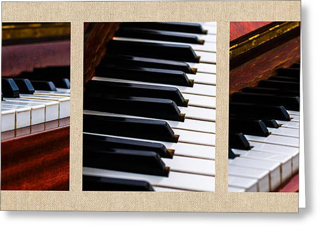 Reflex Greeting Cards - Triptych Dont Shoot The Pianist Greeting Card by Alexander Senin