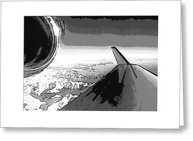 Red White Black An White Blue An White Jet Pop Art Planes. Greeting Card by R Muirhead Art