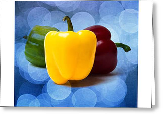 Triptych - Pepper Traffic Lights 2 Greeting Card by Alexander Senin