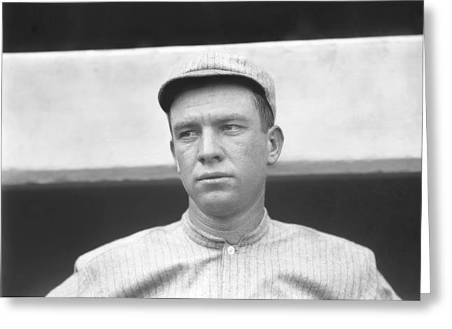 Retro Antique Greeting Cards - Tris Speaker Close Up Greeting Card by Retro Images Archive