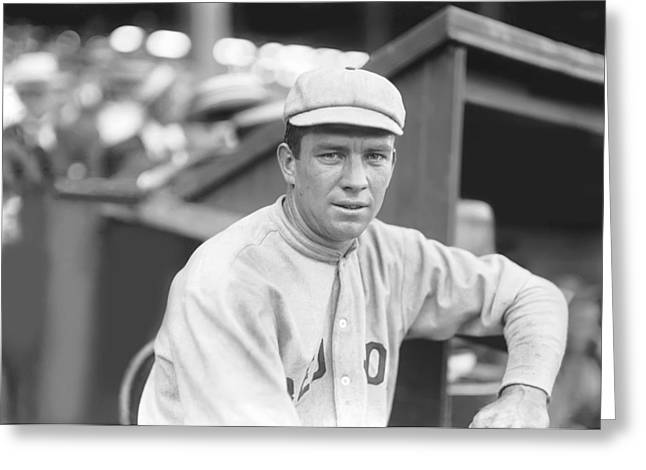 Historical Pictures Greeting Cards - Tris Speaker Leaning Against Dugout Greeting Card by Retro Images Archive