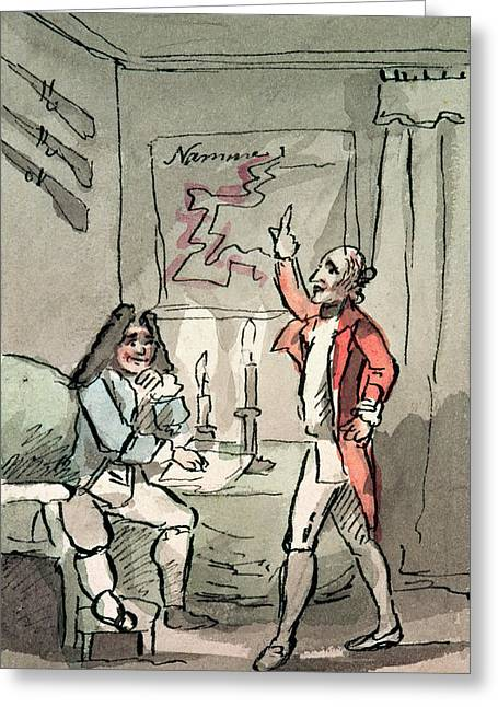 Tristram Shandy, 1786 Wc On Paper Greeting Card by John Nixon