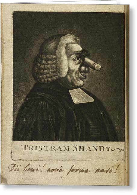 Tristram Shandy By Laurence Sterne Greeting Card by British Library