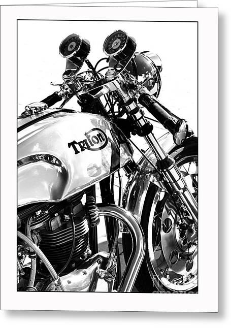 Triton Motorcycle Greeting Card by Tim Gainey