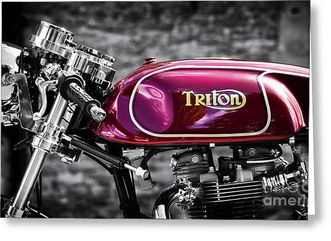 Petrol Greeting Cards - Triton Greeting Card by Tim Gainey