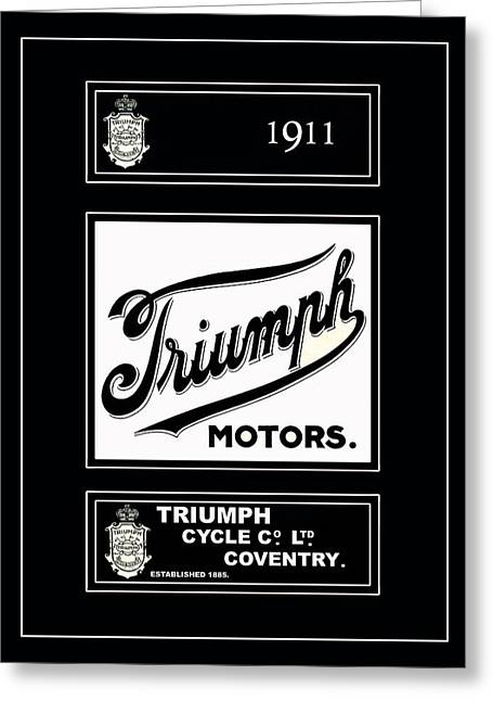 Triumphing Greeting Cards - Triumph 1911 Greeting Card by Mark Rogan
