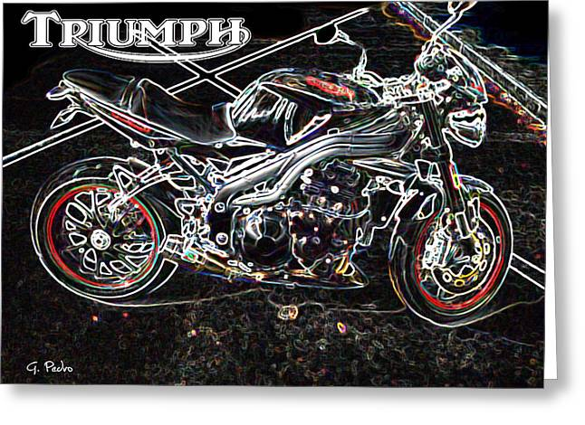 Recently Sold -  - Abstract Forms Greeting Cards - Triumph Abstract Greeting Card by George Pedro