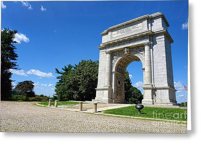 Valley Forge Greeting Cards - Triumph and Sorrow Arch  Greeting Card by Olivier Le Queinec