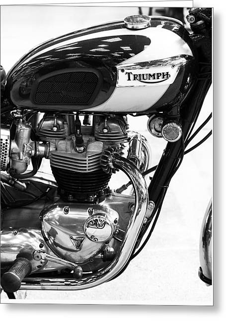 Isle Greeting Cards - Triumph Bonneville Greeting Card by Tim Gainey
