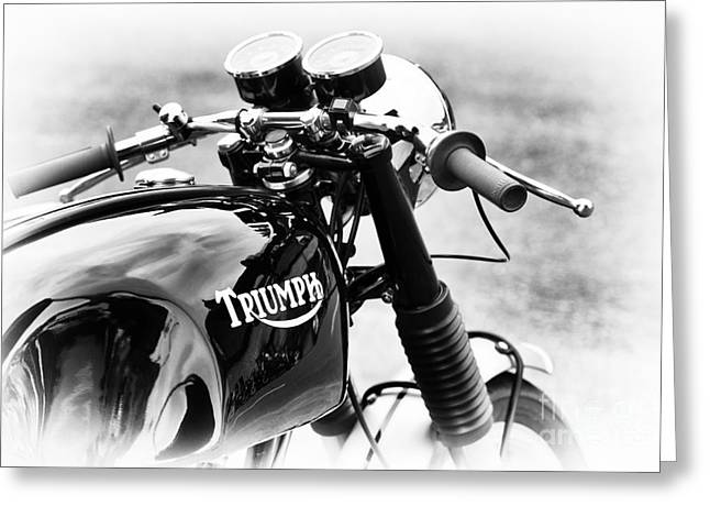 Tim Greeting Cards - Triumph Cafe Racer Greeting Card by Tim Gainey
